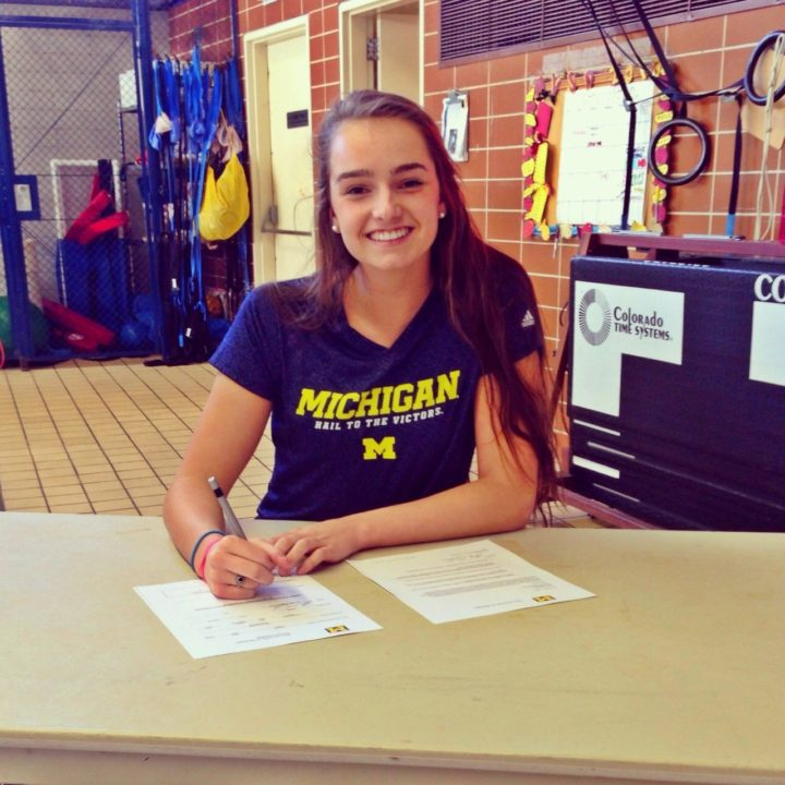 Schinella, Sanders, and Powers Sign Letters of Intent to Swim for Michigan