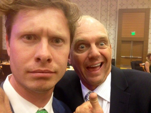 Anders Holm and Rowdy Gaines at the 2013 Golden Goggles (my favorite!)