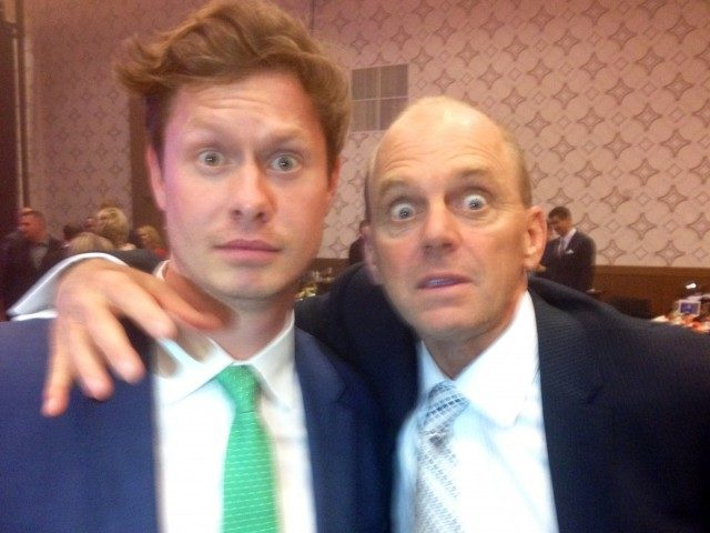Anders Holm and Rowdy Gaines at the 2013 Golden Goggles