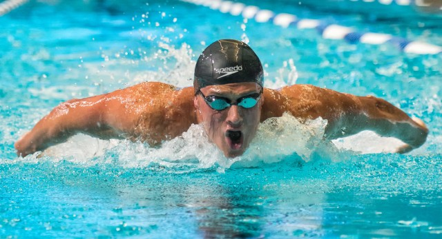 Ryan Lochte at the 2013 USA Swimming nationals in Indianapolis  (photo: Mike Lewis, Ola Vista Photography)