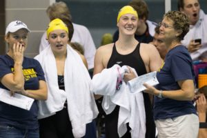 Carly Geehr's on-deck report: Stanford Women Overpower Cal at Home, 167-133