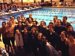 Dartmouth Swim and Dive at Big Al Open 2013 (photo from @DartmouthSwim Twitter account)
