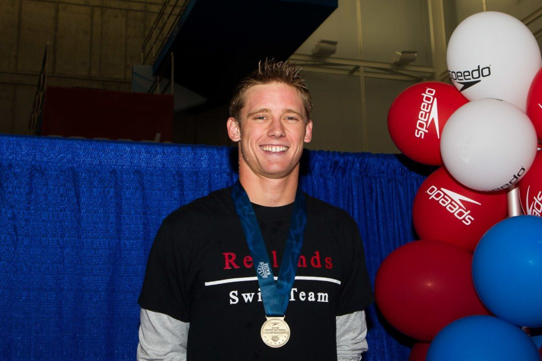 Photo Vault: Swimmers With Big Reactions to Day 2 Winter Junior Titles