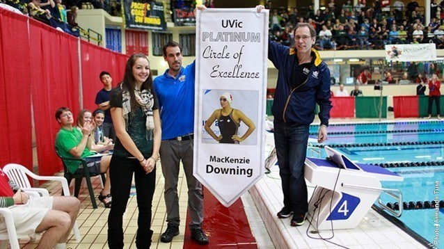 University of Victoria Inducts Mackenzie Downing to Platinum Circle of Excellence