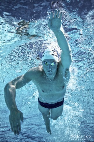 Peter Vanderkaay, 4-time Olympic Medalist & Swim Like A Champion host (courtesy of the Fitter & Faster Swim Tour presented by SwimOutlet.com)