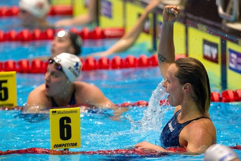 Pellegrini Records Her Fastest Time Since World Record Swim