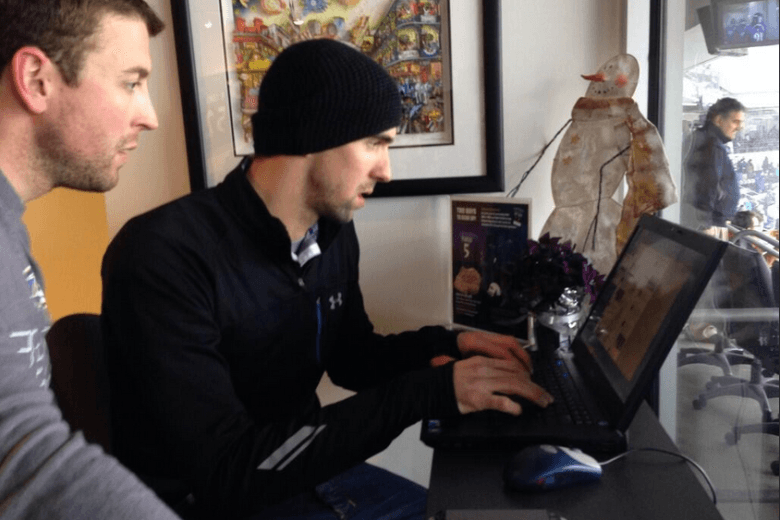 Michael Phelps Ran the Baltimore Ravens' Twitter for Game Against Vikings