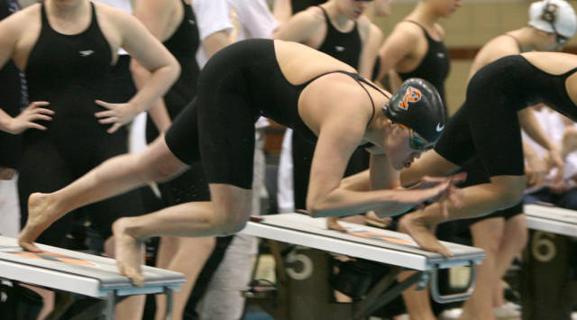 Boyce tops Romano in 100 free to close Austin Sectional