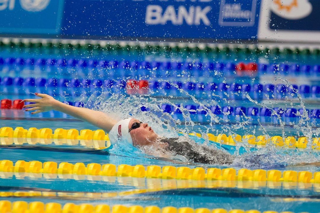 Mie Nielsen, Baumrtova Break Euro Record in 100 Back