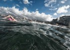 first wave at the Waikiki Roughwater Swim  (photo: Mike Lewis, Ola Vista Photography)