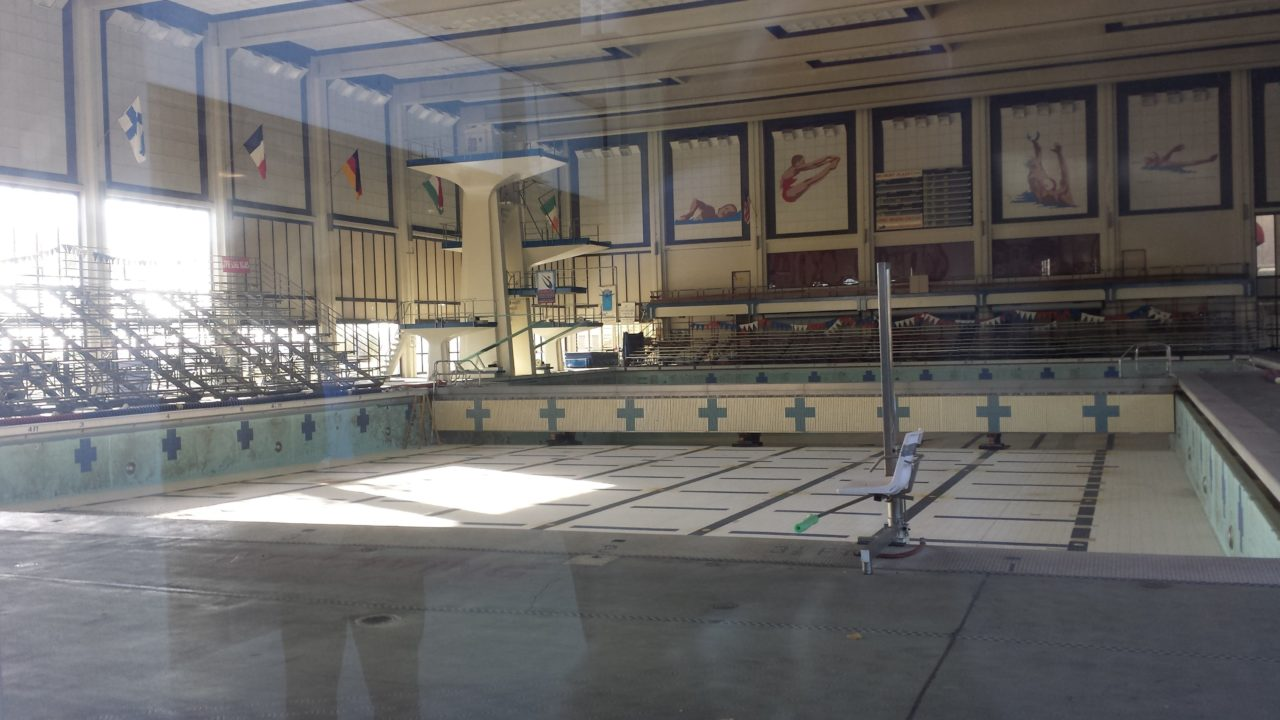 Belmont Plaza Olympic Pool: Old Meets Temporary; Both Await New