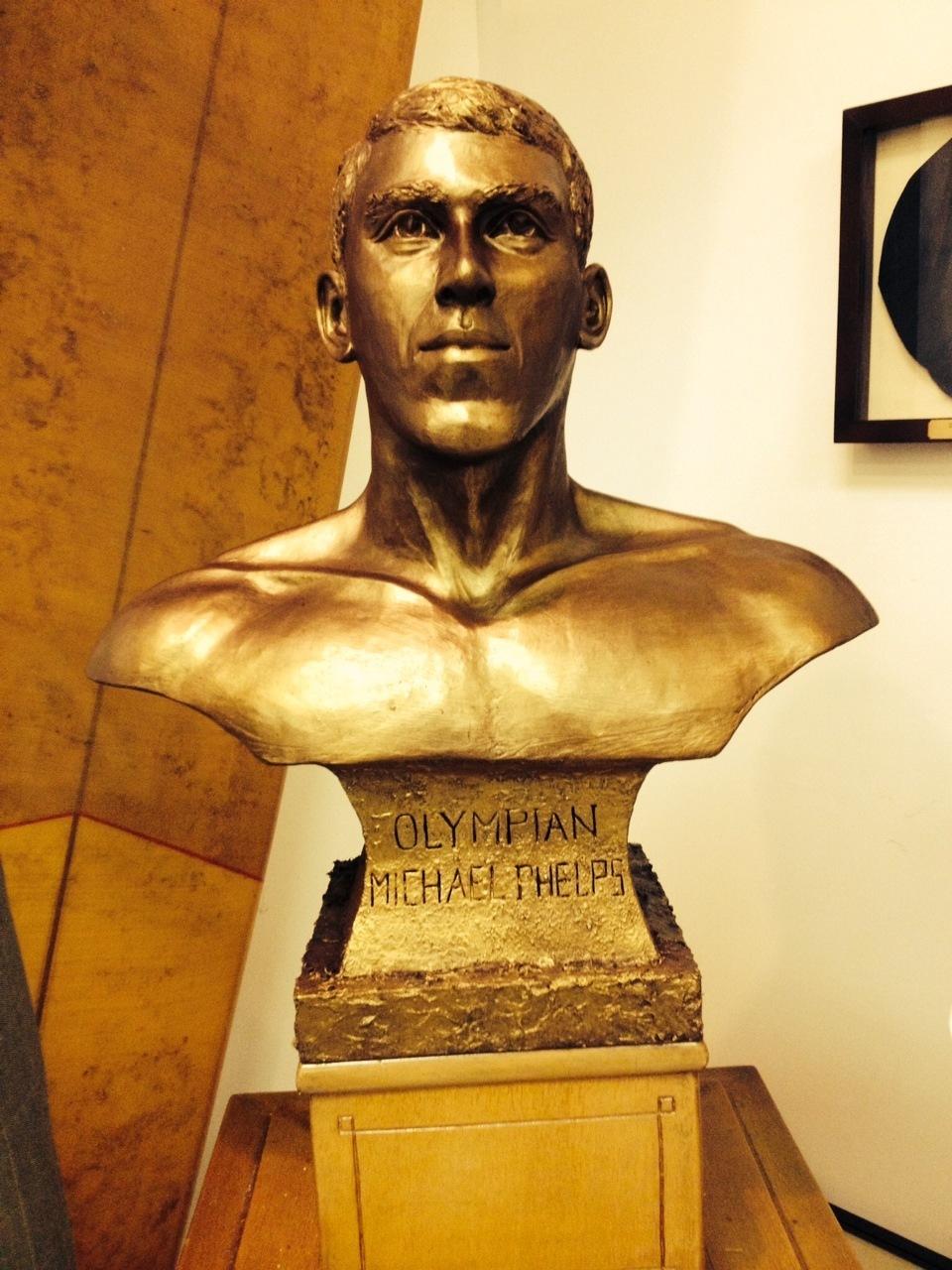 Michael Phelps Statue Put On Display At International