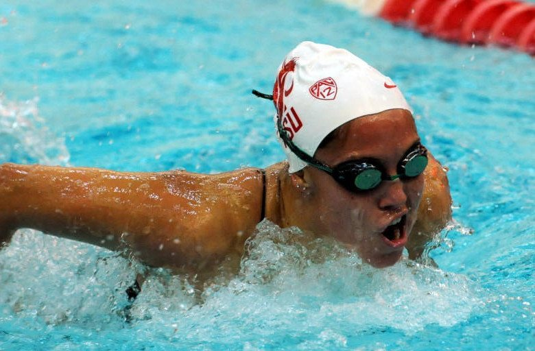 Cook Breaks 100 Back Pool Record as Wash. State Beats Oregon St.