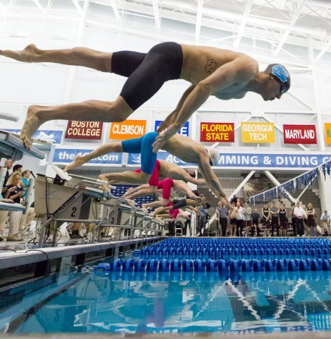 The start of the 50 free championship final. Courtesy: Tim Binning/TheSwimPictures.com