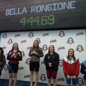Isabella Rongione, a Langley freshman, dominated the 500 freestyle.