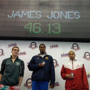 Robinson sophomore James Jones won two individual races, including the 100 free.