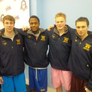 Robinson's boys won the 400 free relay with the three Jones brothers, Matt, James and Luke, as well as James Murphy.