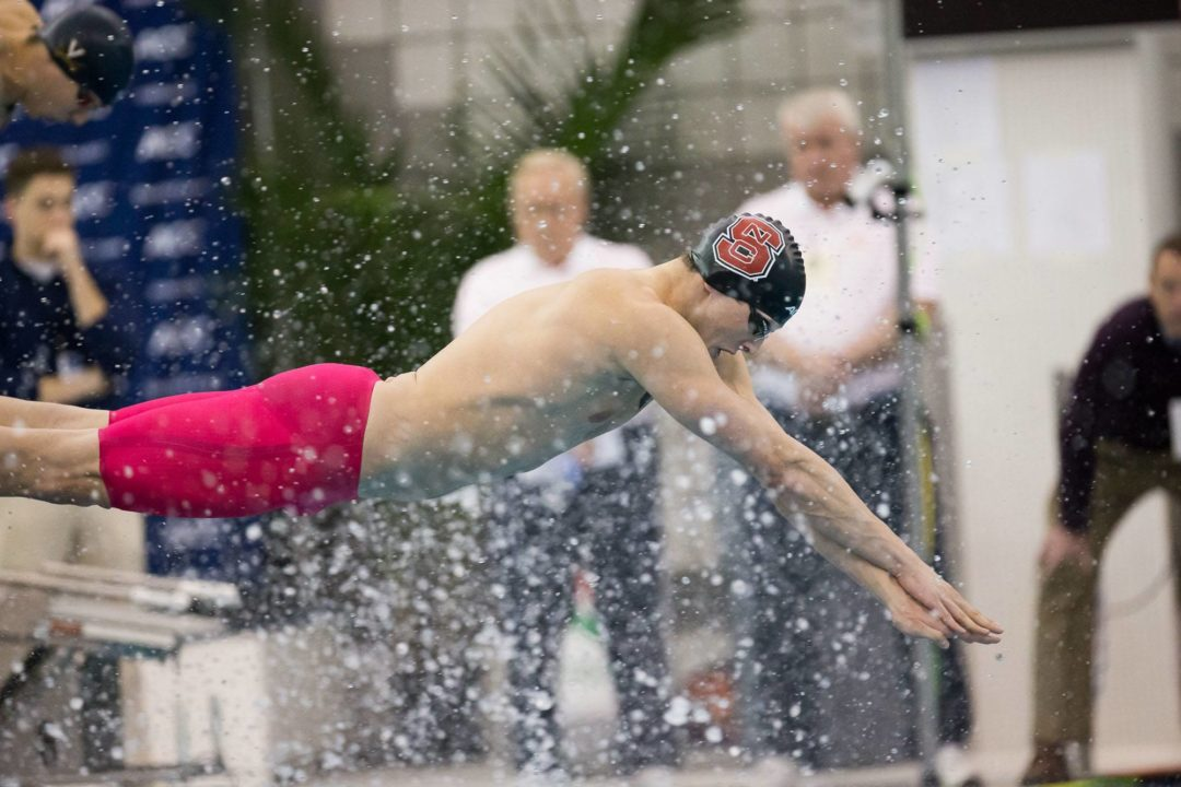 NC State Sweeps Relays, Virginia Tech Diving Maintains Early Lead at 2014 Men's ACC's