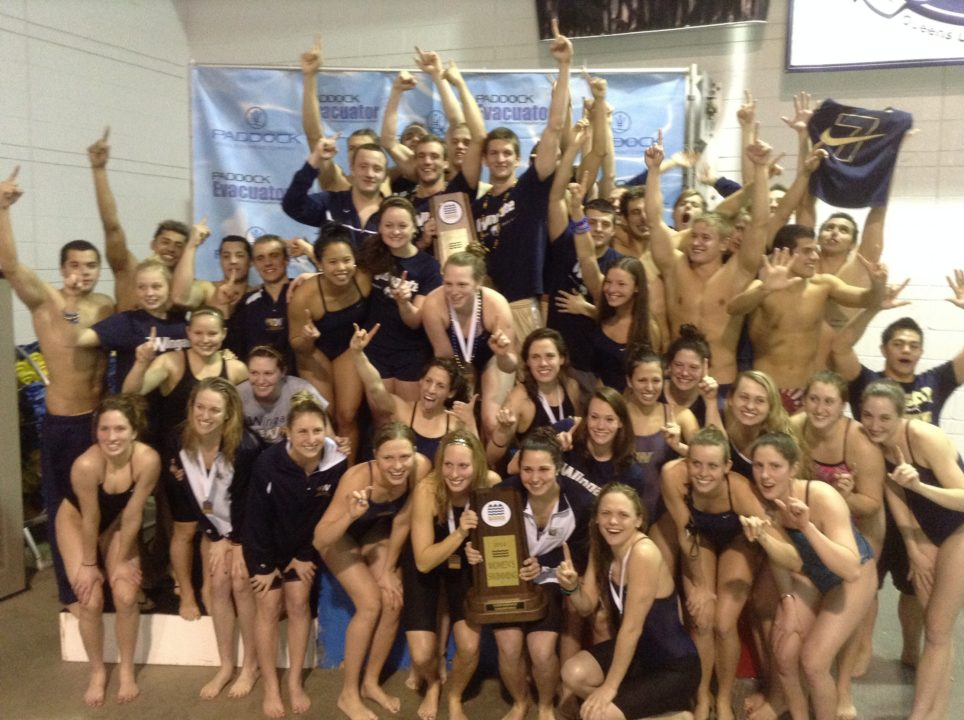 A Very Fast BMC Championship Meet Ends with Wingate Women and Men Taking Home Top Honors
