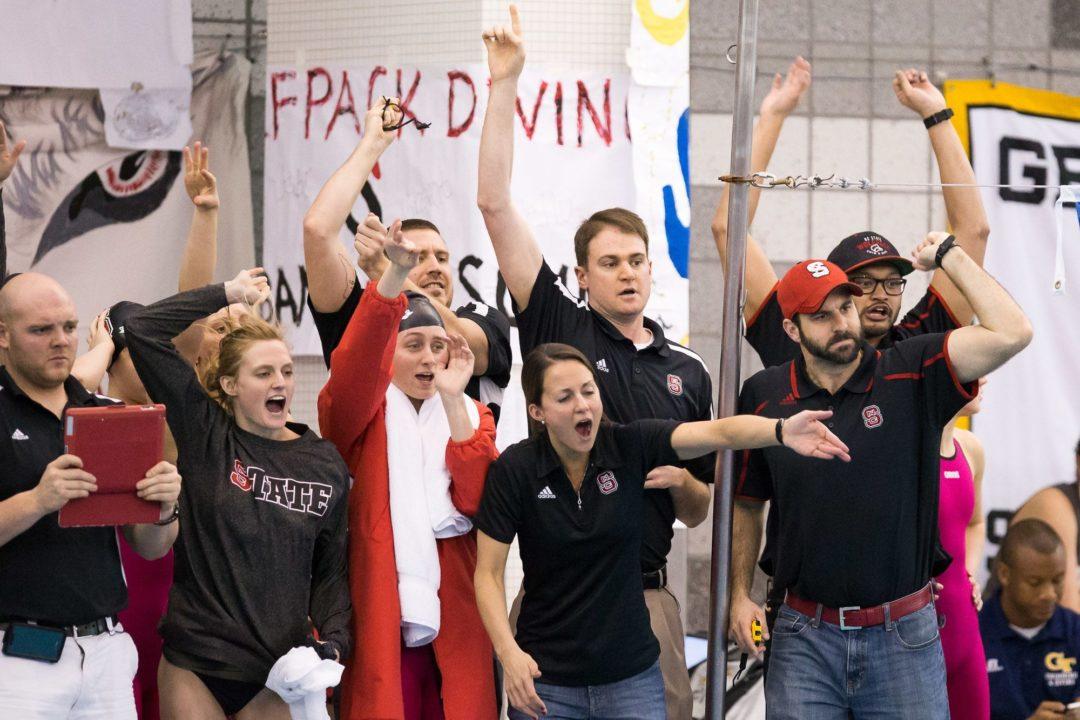 WATCH NC State's Stewart Swim 43.9 100 Back in Old School Jaked