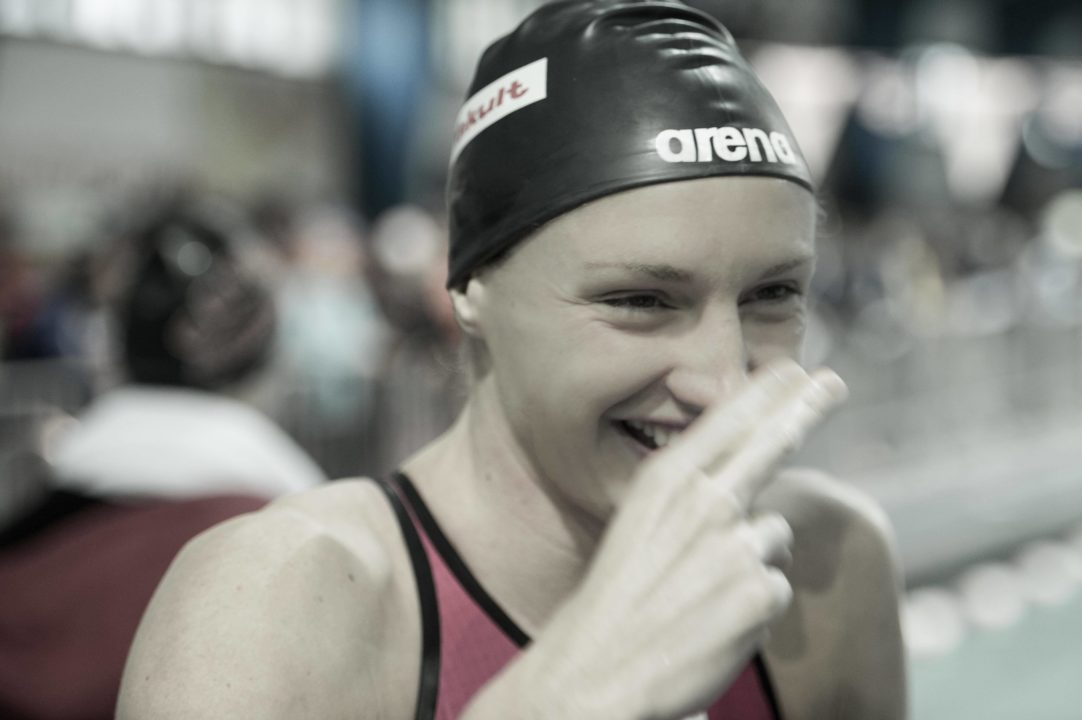 Hosszu makes all 5 finals, breaks Hungarian 50 free record on day 1 of Bergen Swim Festival