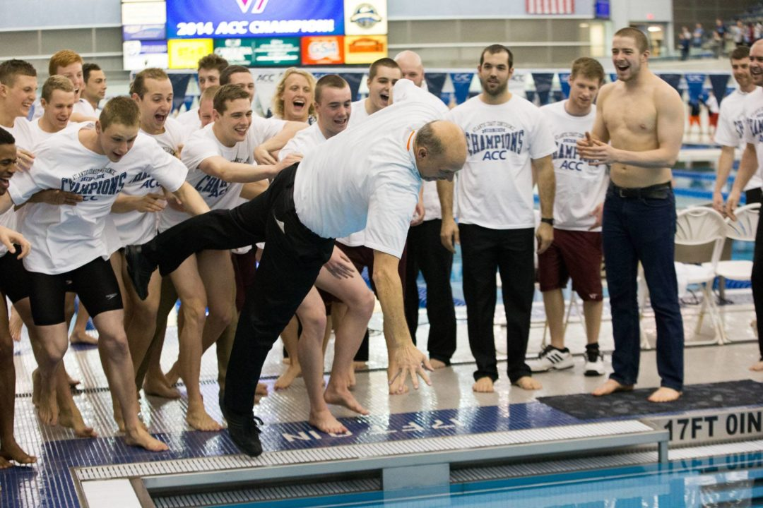 Photo Vault: 2014 ACC Men's Swimming and Diving Team Champions Virginia Tech