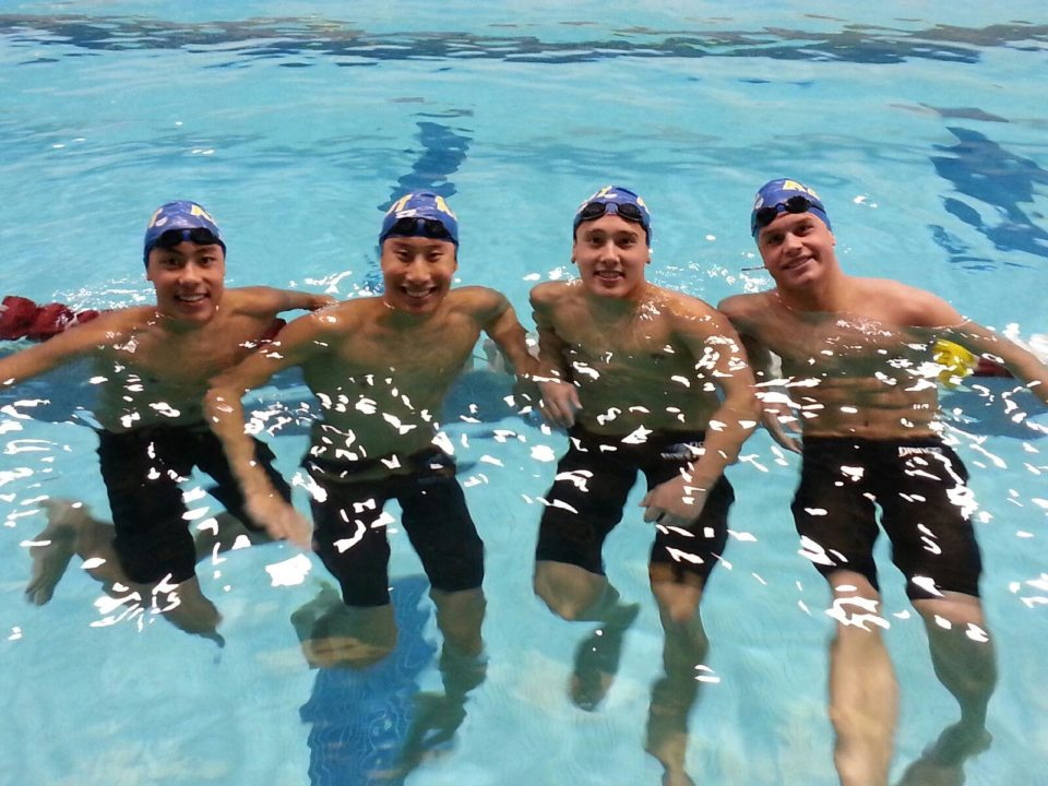 Aquazots Break 15-16 200 Medley Relay National Record at College Station Sectional Championship