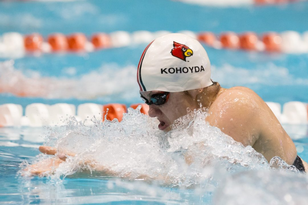 Louisville's Kohoyda, Coutinho Improve NCAA Qualification Chances at Tennessee Last Chance Meet