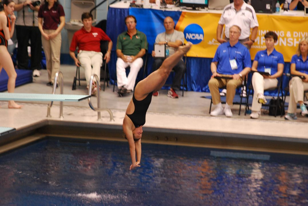 2014 Women's NCAA Diving Championships: Laura Ryan On Top After 1 Meter Prelims
