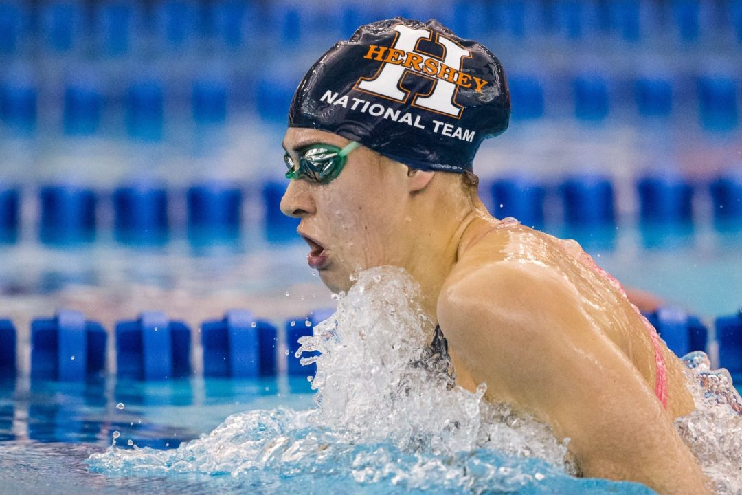 Hershey's Raab Breaks Third Individual State Record on Day 1 of Pennsylvania State Champs