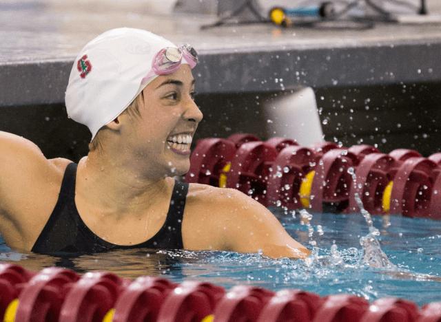 Maya DiRado, Stanford, 200 IM winner, 2014 Women's NCAA Swimming & Diving Championships (Tim Binning/theswimpictues)
