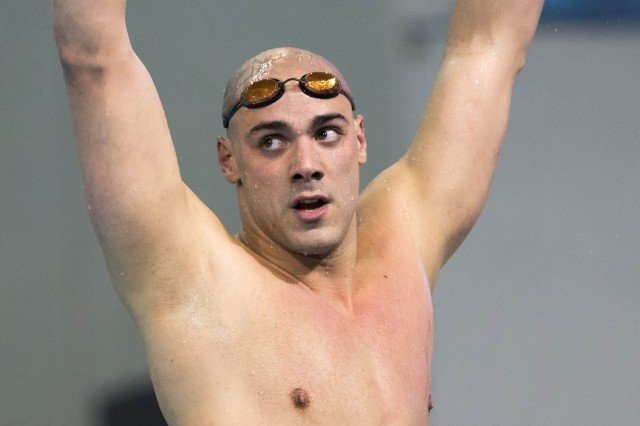 Louisville Senior Joao De Lucca repeats as 200 freestyle champion going 1:31.96 on the second night of the 2014 NCAA Division I Swimming and Diving Championships.