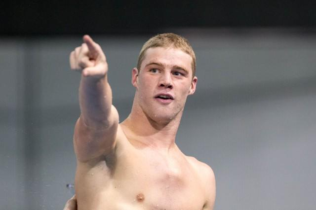 Arizona Junior Kevin Cordes repeats as 100 breaststroke champion while smashing the American and NCAA record in the event (50.01) at the 2014 NCAA Division I Swimming and Diving Championships.
