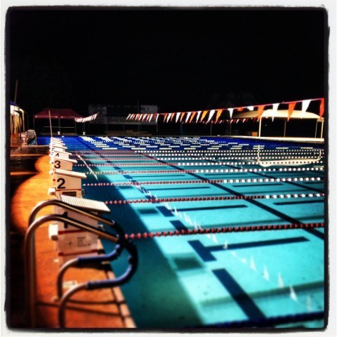 The pool lay empty, having seen it's last official race, on Sunday night. (Courtesy: Garrett McCaffrey)