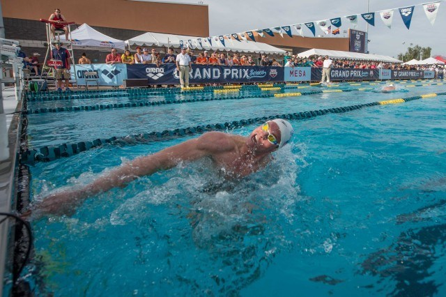 Conor Dwyer - 2014 Arena Grand Prix at Mesa  (courtesy of Mike Lewis, olavistaphotography.com)