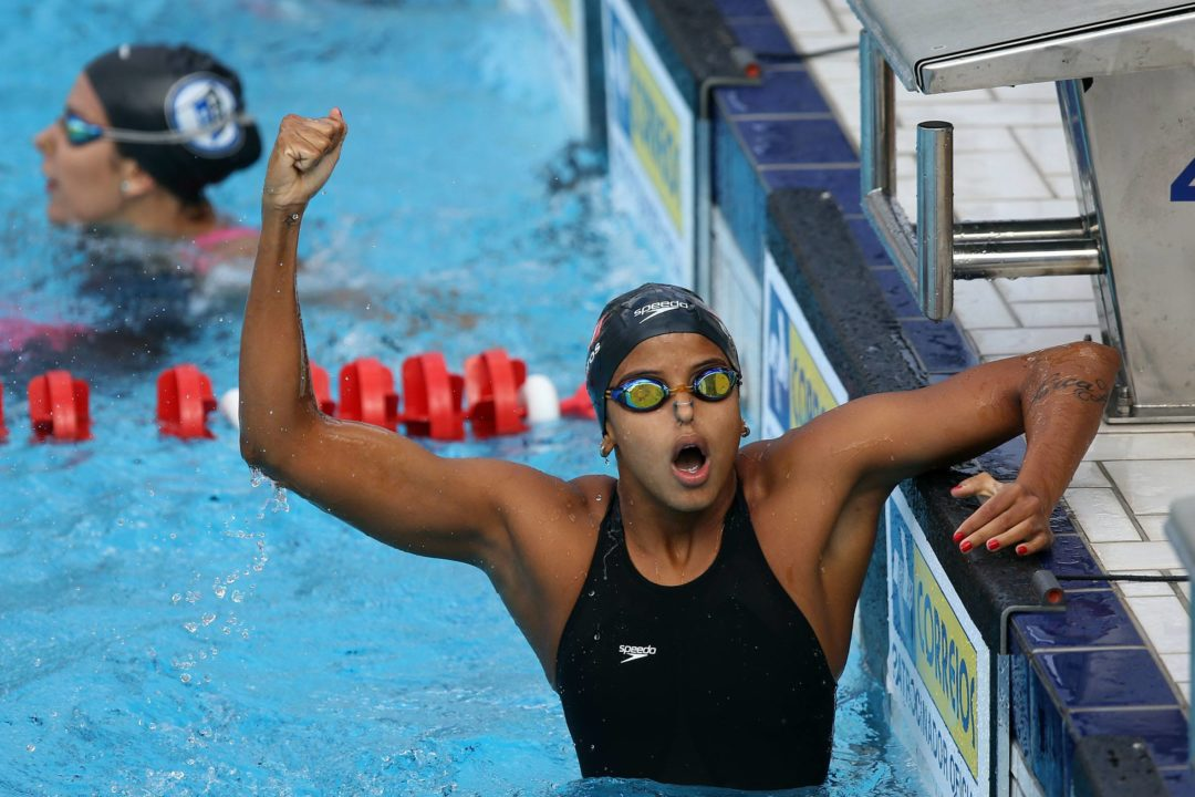 Etiene Medeiros Erases Pan Am, Brazilian, and South American Records with 100 Back Gold