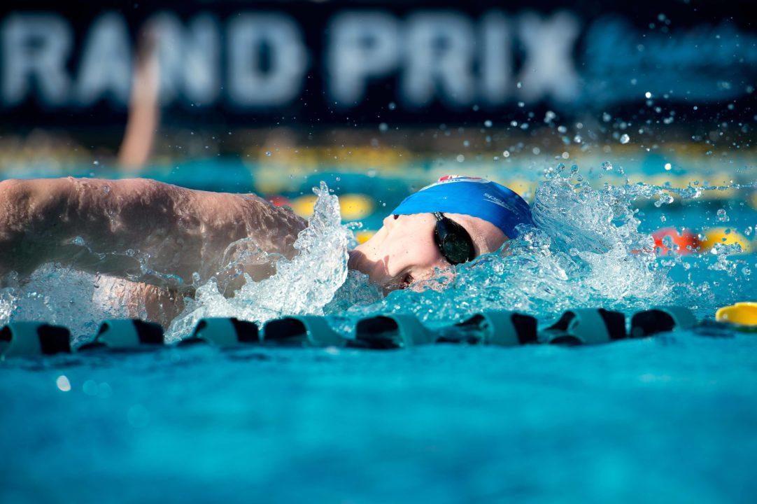 Ledecky Breaks Junior World Record in 400 Free in Prelims of Mesa Grand Prix