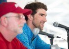 Bob Bowman & Michael Phelps at the 2014 Arena Grand Prix in Mesa (courtesy of Mike Lewis)