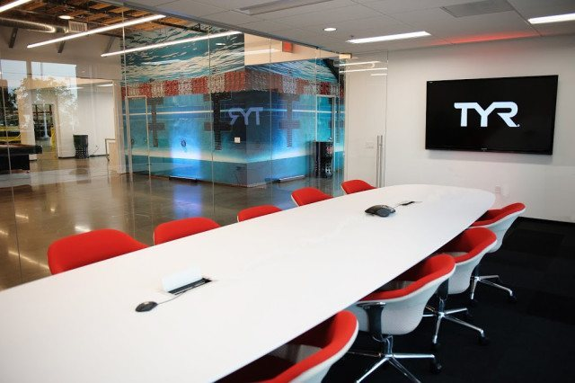 Here's where the best minds in the business come together to meet. TYR Sport Global Headquarters, Seal Beach, CA (courtesy of TYR Sport)