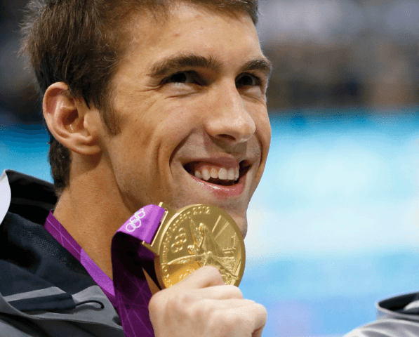 Michael Phelps, 2012 Olympic Gold, 200 IM (courtesy of USpresswire)