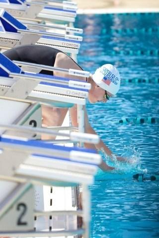 Allison Schmitt at the 2014 Arena Grand Prix in Mesa (courtesy of Rafael Domeyko, rafaeldomeyko.com)