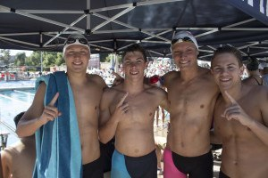 200 medley relay champions from Laguna Beach. Photo: Jenna Haufler/Hugh Berrmyan