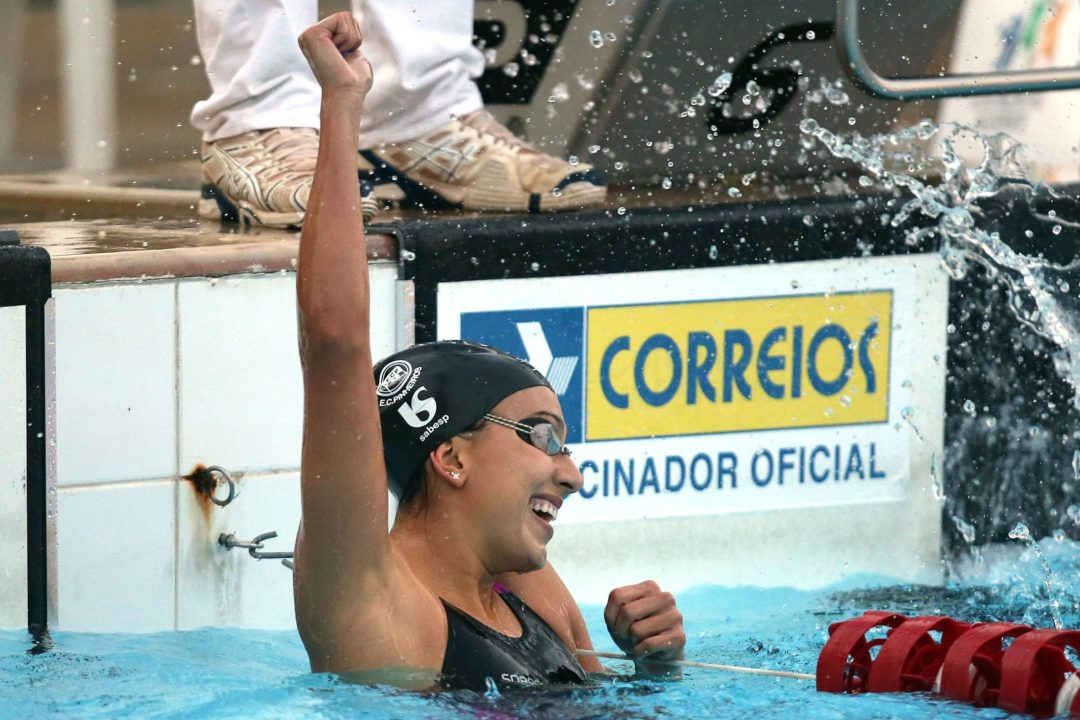 Larissa Oliveira Breaks Brazilian, South American 200 Free Records