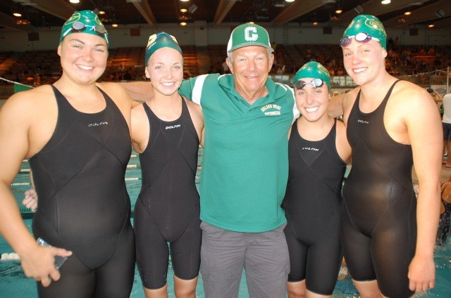 Golden West's 200 free relay. Photo: Anne Lepesant