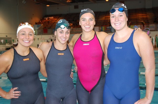 Diablo Valley's record-breaking medley relay team. Photo: Anne Lepesant