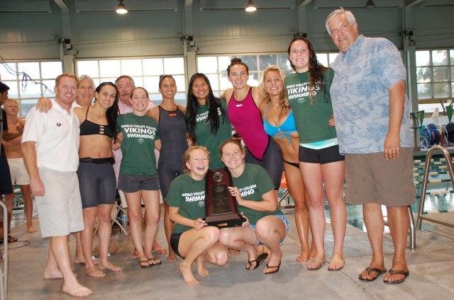 Diablo Valley College women's team won the 2014 CCCAA championship meet. Photo: Anne Lepesant
