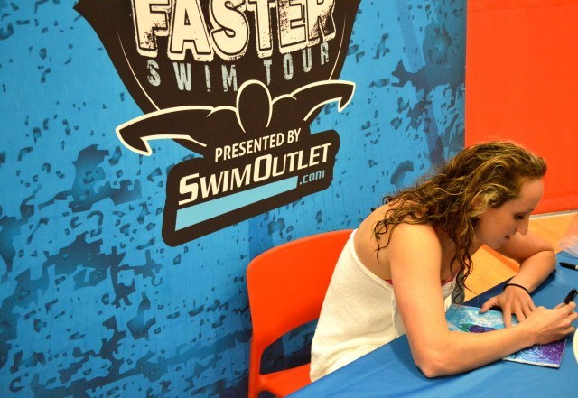 Claire Donahue signs autographes at the Fitter and Faster Swim Tour presented by SwimOutlet.com - Springfield, Illinois