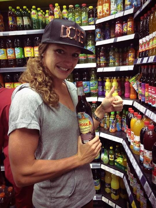 New face of Piroska fruit drinks, Katinka Hosszu has a unique grocery shopping experience