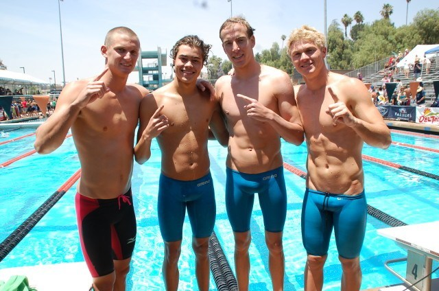 Los Osos 400 free relay. Photo: Anne Lepesant