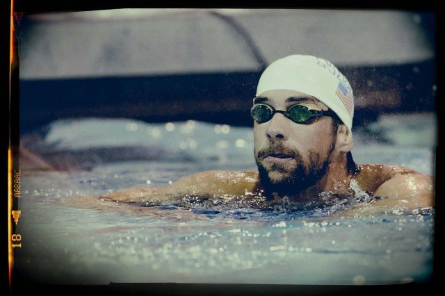 Michael Phelps first win in the comeback era (photo: Mike Lewis, Ola Vista Photography)